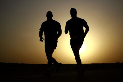 Men jogging